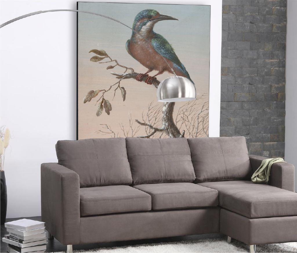 IJsvogel - foto groot aan de muur