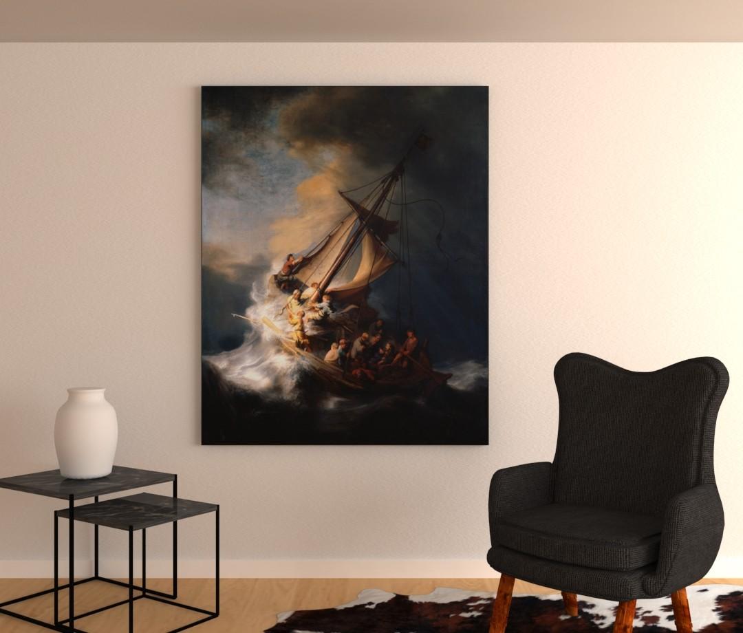 Storm op het meer van Galileas - Rembrandt van Rijn