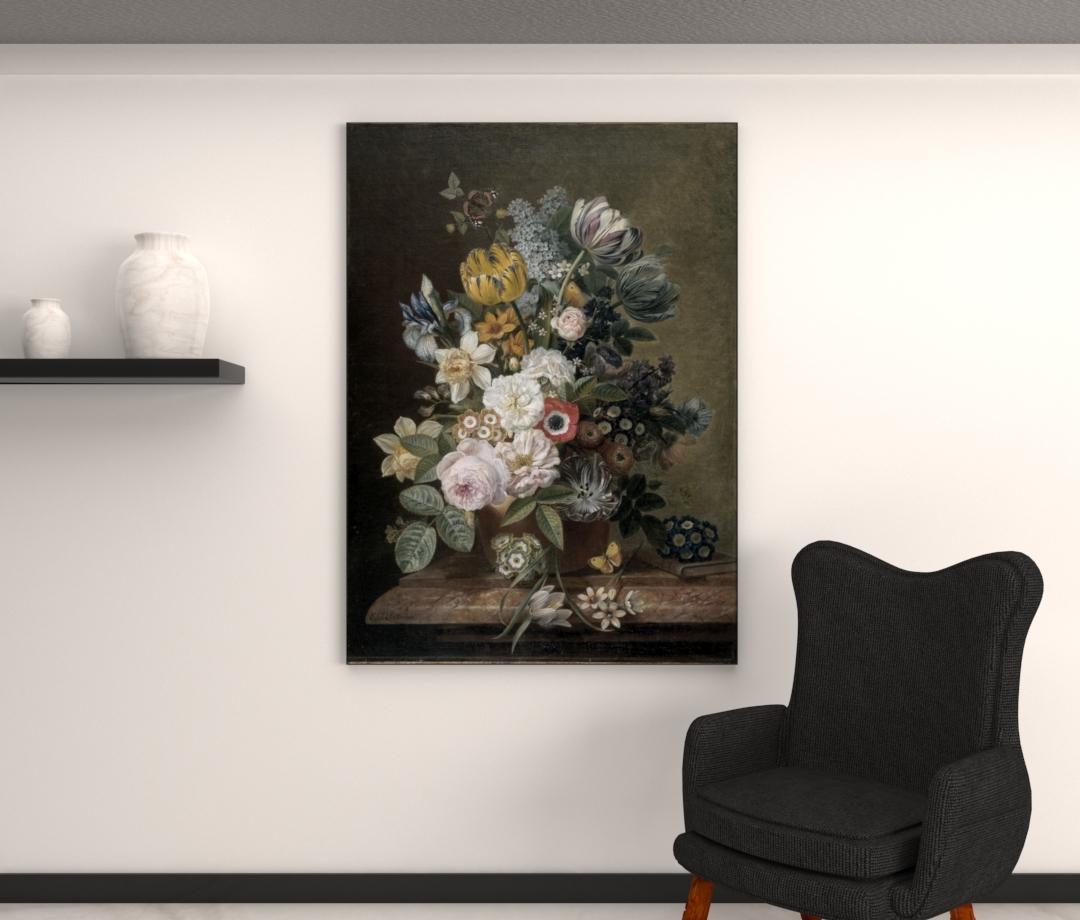 Stilleven met bloeme - Eelke Jelles Eelkema