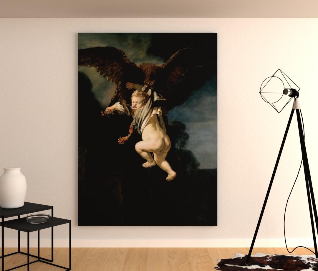 De roof van Ganymedes - Rembrandt van Rijn